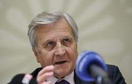 ECB chairman Jean Claude Trichet acted as spokesperson fro the BIS meeting