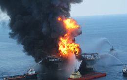 The BP oil disaster in the Gulf of Mexico is very much present