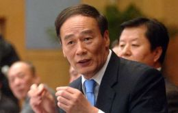 Vice Premier Wang Qishan admits inflation is China's most pressing problem