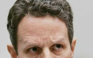 US Treasury Secretary Timothy Geithner appealed to a divided Congress