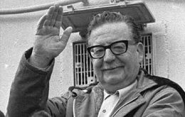 Salvador Allende, Chile's first Socialist president who was deposed by a military uprising in September 1973