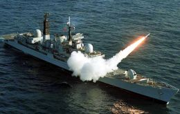 The Tpye 42 destroyer has undergone maintenance and Sea Dart missile testing