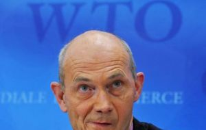 WTO Director General Lamy: 'beware of devastating effects'