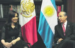 The two presidents met at the Los Pinos presidential residence in Mexico City