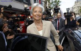 The French Finance minister Lagarde is on a world tour in support for her candidacy