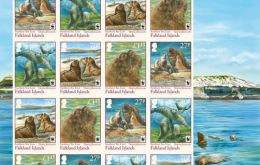 The set of stamps released for sale this week <br />