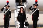 The Argentine president is currently in Rome for the 150th Italian reunification celebrations<br /> <br />