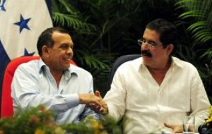 An accord signed between ousted Manuel Zelaya and the current elected president Porfirio Lobo opened the way