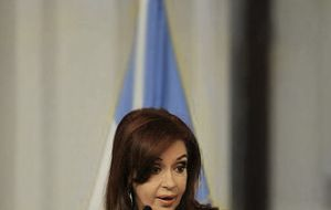 Cristina Fernandez mentioned restructuring the debt, human rights, art and cultture