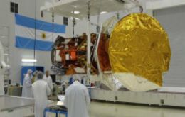 Scientists preparing the satellite for Thursday launching