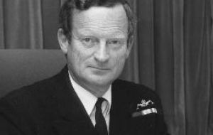 Sir John 'Sandy' Woodward led the Task Force in 1982 that recovered the Falklands