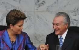 President Dilma Rousseff and Vice-president Temer 'simile please'