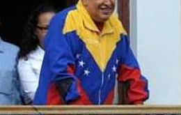 Hugo Chavez the perfect image of the 'caudillo', but with feeble knees