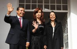 Peruvian president-elect with Cristina Fernandez in Buenos Aires