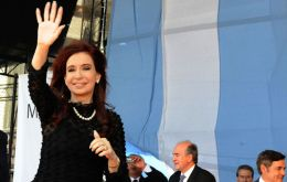 The Argentine president campaigning in the north of Argentina