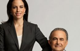 Gustavo Cisneros and daughter Adriana, owners of an empire worth 2.4 billion dollars