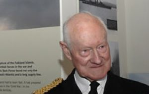 Admiral of the Fleet, Sir Henry Leach, 45 years in the Navy