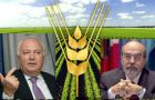 Miguel Angel Moratinos and former Brazilian Food security minister Jose Graziano da Silva