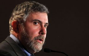 "Nobel Prize Krugman argues Argentina suffered terribly from 1998 to 2001 when ""it tried to be orthodox and do the right thing"""