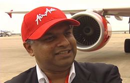 Tan Sri Tony Fernandes CEO of AirAsia the fastest low-cost growing airline in the world