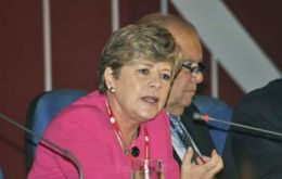 Alicia Bárcena expects the region to keep growing strongly