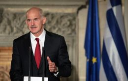 Prime Minister George Papandreou secured a majority