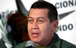 "General Henry Rangel Silva: ""the country is calm"""