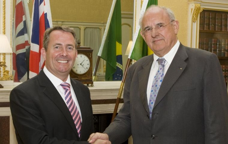 Liam Fox and Nelson Jobim at Lancaster House