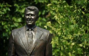 The 10-foot (three-metre) statue of Reagan was unveiled to mark 100 years since his birth (Photo AFP)