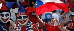 Chilean fans in the Copa America don't seem unhappy