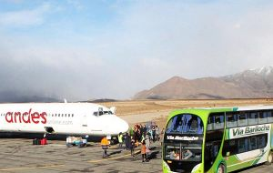The airport was covered with a coat of several centimetres of sandy, metallic ash