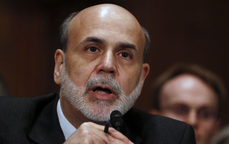 Chairman Bernanke forecasts slower pace of recovery in coming quarters