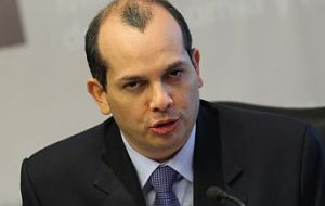 Peruvian Finance Minister Luis Miguel Castilla one of the sponsors of the special fund to counter balance of payments problems
