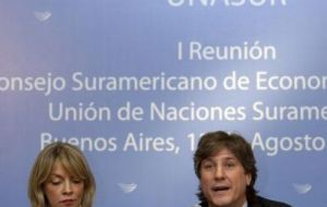 Argentine  Economy minister Amado Boudou hosted the meeting in Buenos Aires