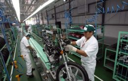 The assembling of motor bikes is clear evidence of the expansion of manufacturing