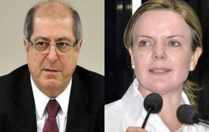 Paulo Bernardo is the husband of cabinet chief Gleisi Hoffmann