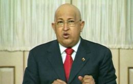 The Venezuelan president accuses the West of providing the arms and the mercenaries.
