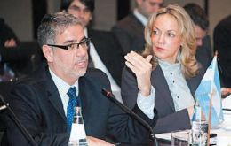 Argentina's Deputy Economy minister Roberto Feletti was the official spokesperson of the meeting