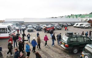 Cruise visitors gather at the Jetty Centre last season