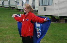 Swimmer Sorrel Pompert-Robertson, 14, last June competed at the Nat-West Island Games on the Isle of Wight (Photo FIOGA)