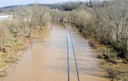 Commuter lines and Amtrak still disrupted due to flooded tracks or blocked with debris