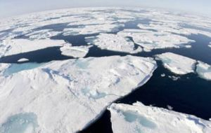 From 3 million square miles in early 1980s the ice cap has fallen to 1.6 million sq miles in 2007