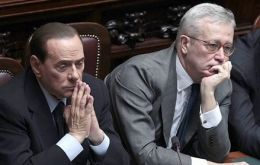 PM Silvio Berlusconi and Economy Minister Giulio Tremonti confronted over the cuts