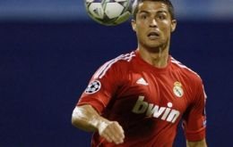 Ronaldo was strongly challenged in Zagreb and had to have three stitches on his right ankle