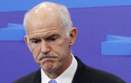 PM Papandreou cancelled a planned trip to Washington and the UN