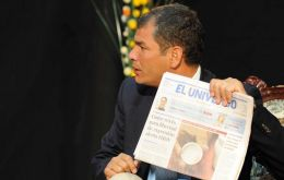 President Correa obsessed with eliminating non militant media
