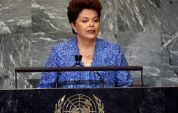 Brazilian president Rousseff, the first woman to open the UN General Assembly