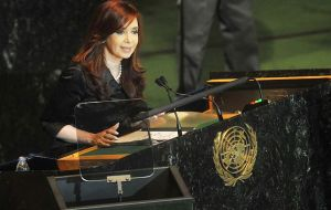 UK must comply with UN resolutions and begin talks with Argentina, insisted CFK