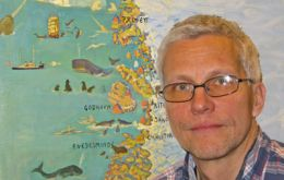 Professor Mads Peter Heide-Jorgensen has been tagging and satellite following bowheads for the last decade
