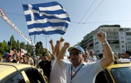 In the streets of Athens Greeks continue to protest austerity measures
